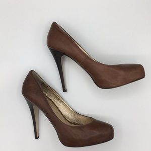 DOLCE VITA brown leather Madison pump heels